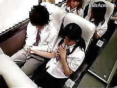 Schoolgirl Jerking Off Guys Cock On The Schools Bus Trip