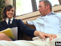 Desirable schoolgirl gets a good slamming