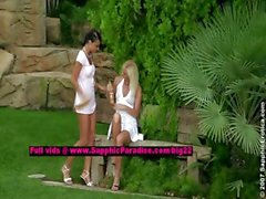 Jenny and Debby stunning lesbo girls undressing