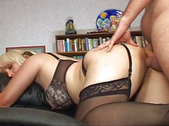 Lingerie blond MILF horny as fuck