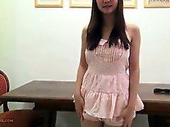 Große Brüste, heißen Japanisch Mädchen in Overall