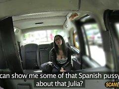 Snygg drivrutin bankar hans spanska kunden
