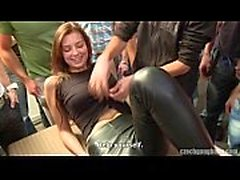Czech creampie gangbang (part 1)