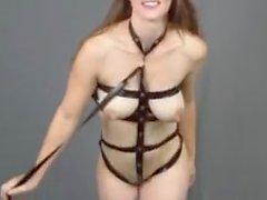 nice amputee milf striptease