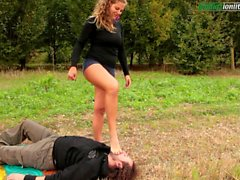 The Voyeur Ep1 Part 3 Outdoor Foot Domination