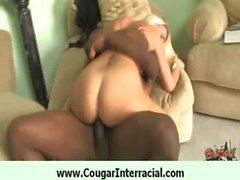 Sexy cougar wet pussy fucked by black 10