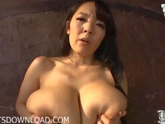 Busty asian with giant natural tits showing her monster boobs
