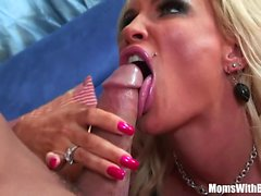 Slutty Blonde Housewife Diamond Foxxx Pierced Pussy Drilled