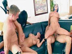 Hot nasty interracial sex with Candace Von, Whitney Stevens and Veronica Rayne