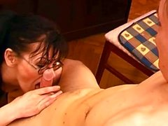 Mature Piano Teacher Giving Student A Sex Lesson