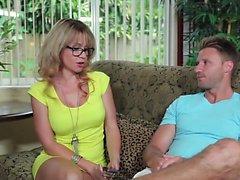 Watch this blonde european babe making love energetically