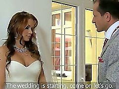 Huge tits bride fucked and creampied