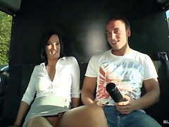 BumsBus - Fuck and facial in the bus with German babe