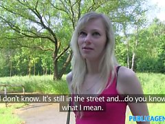 PublicAgent Blonde student fucks a stranger