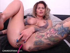 Sexy Tattooed Busty Milf Squirting Everywhere