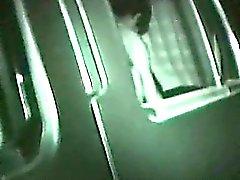 Bandante de fille de de nuit Baise dans le siège de voiture