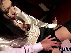 Hot Samy gets dominated by her man