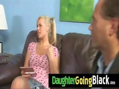 Huge black dick fucks my daughter teen pussy 24