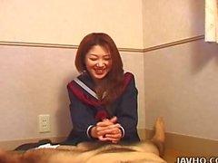 Sexy Nanako Hatsushima kinky handjob