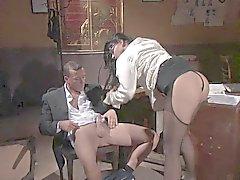 Hot secretary fucked in pantyhose