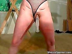 Hot nasty big boobed MILF slut gets tied part1