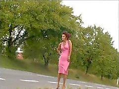 SEXIG MOM 62 Redhead mogna i en bil med en ung man