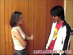 Nuori filippiiniläinen teini pari seksiä