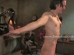 Pair of nasty dominatrix ladies fucking him in extreme bondage do