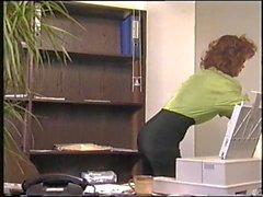Lanky mature gets banged in the office