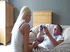 Naughty Allie Handjob