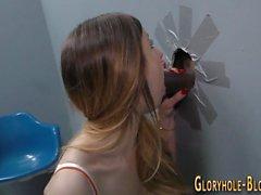 Ass slammed gloryhole ho