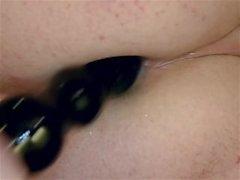 Assolo anale maschio Toy Masturbazioni Primissimo buco del culo Closeup Le contrazioni l'ano
