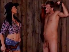 Jasmine Jae in cowgirl Dominatrix hardcore male punishment