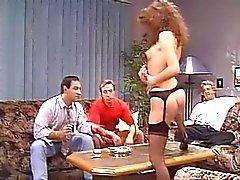 SH Retro Pornstar ChristelleDeballiere Taking Three Cocks