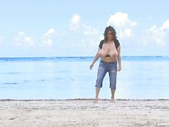 Milena at the beach