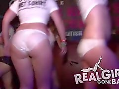 amateur euro girls go crazy and naked during a wet t-shirt contest