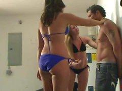 Bikini Belly Beatdown - Carly and Heather Having Fun