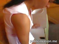 Tennis player in den öffentlichen heißes Girl nagelt
