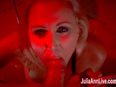Sexy Milf Julia Ann Sucks Dick While Smoking!