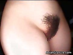 Sexy brunette Aziatische hottie met harige part4