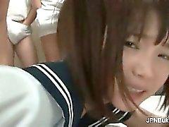 Sexy asian slut gets horny