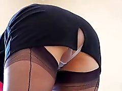 Domestique rond Milf Spy Upskirt