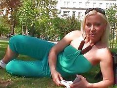 Innocent czech girl at park is seduced for fuck
