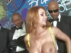Busty Sluts in Hot Interracial Gang Bang Parties