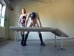 Mistress torturing, and fucking her slaveboy