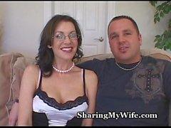 Terapia de la cogida atractiva de la esposa