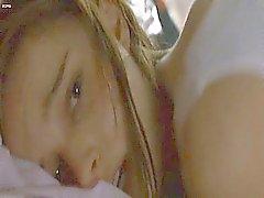 Natalie Portman masturbates in bed. Then we see Natalie