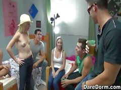 This truth or dare party is crazy hot.