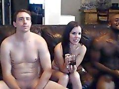 Sıcak amatör ırklararası lanet 3 kamerası çiftler GÖRMEK GEREKİR !!