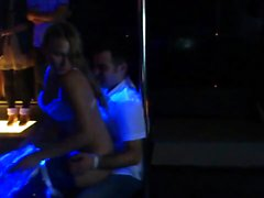Wild party girls strip naked to pole dance and give seducti